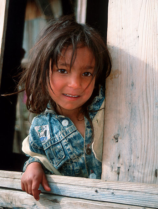 Girl on a houseboat, Kashmir, India travel photography